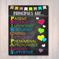 School Principal Poster Principals Are Acronym Art School