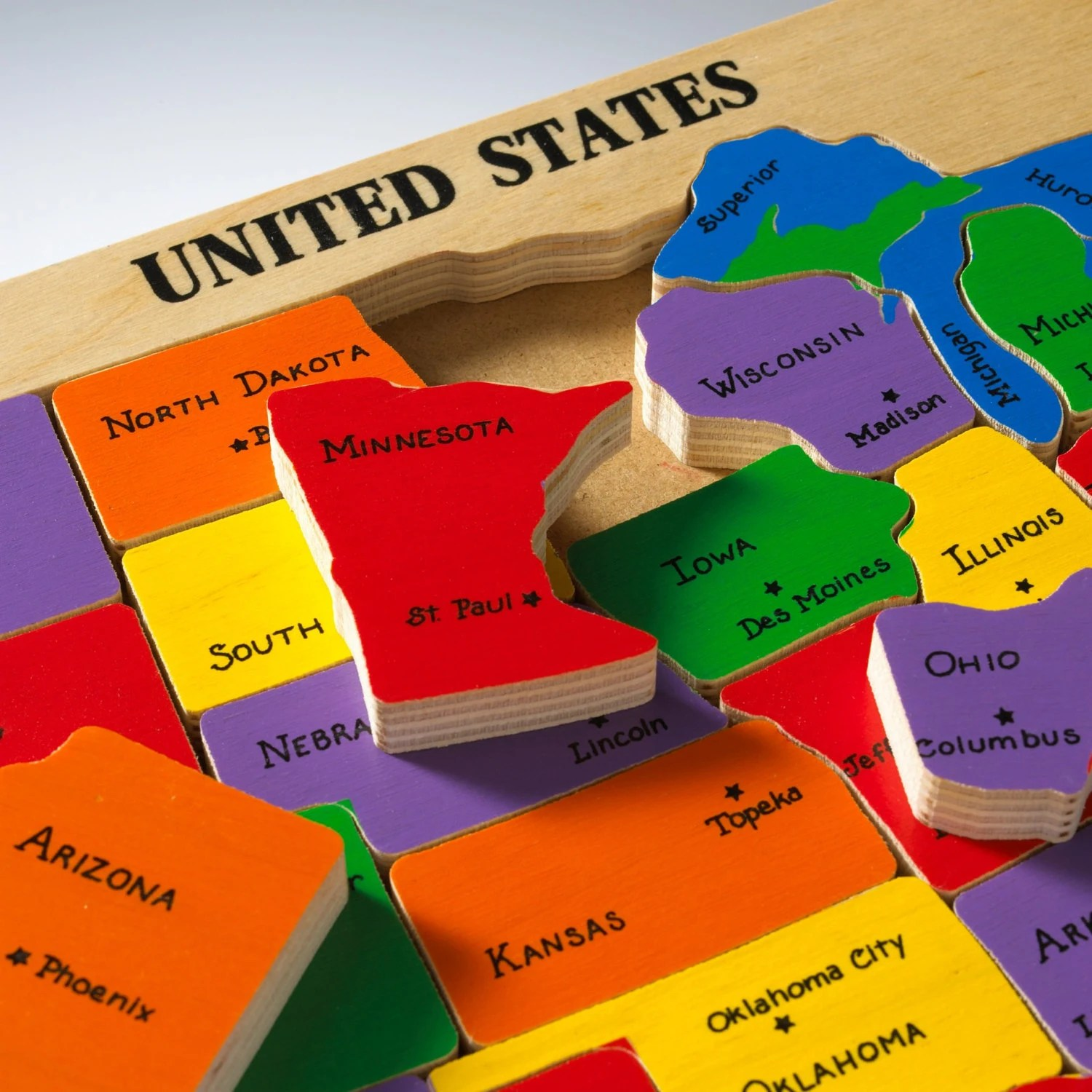 US Map Puzzle amp State Capitals Learning states and capitals