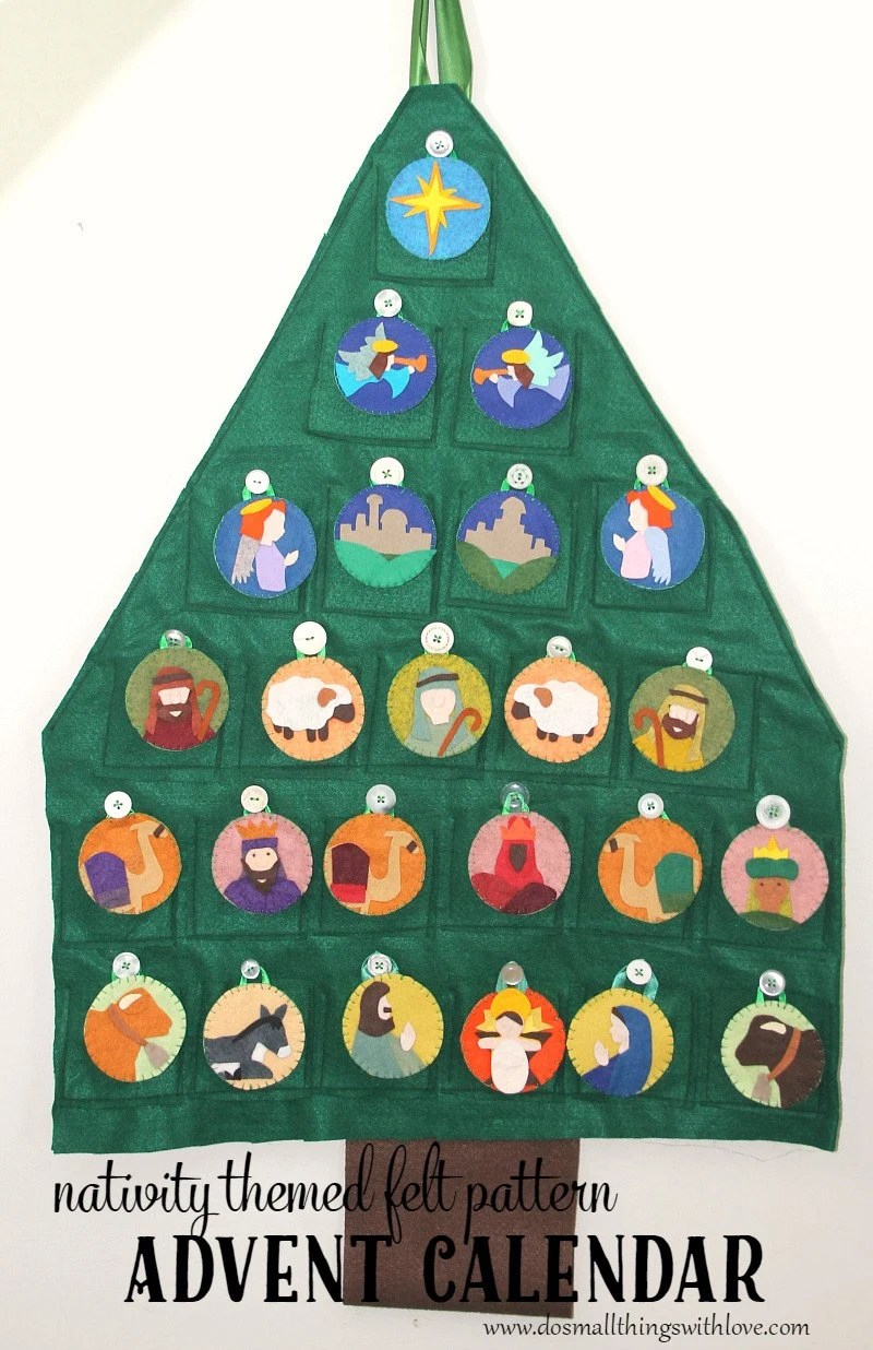 Advent Calendar Pattern // Nativity Themed Christmas Countdown