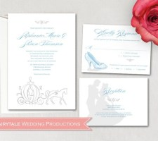 Disney Fairytale Cinderella & Prince Charming Wedding Invitation