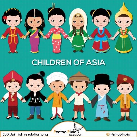 children of asia clipart asian