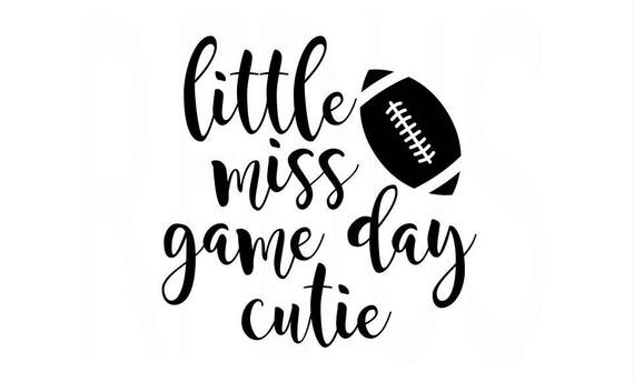 Download Little Miss Game Day Cutie SVG football svg cricut cut file
