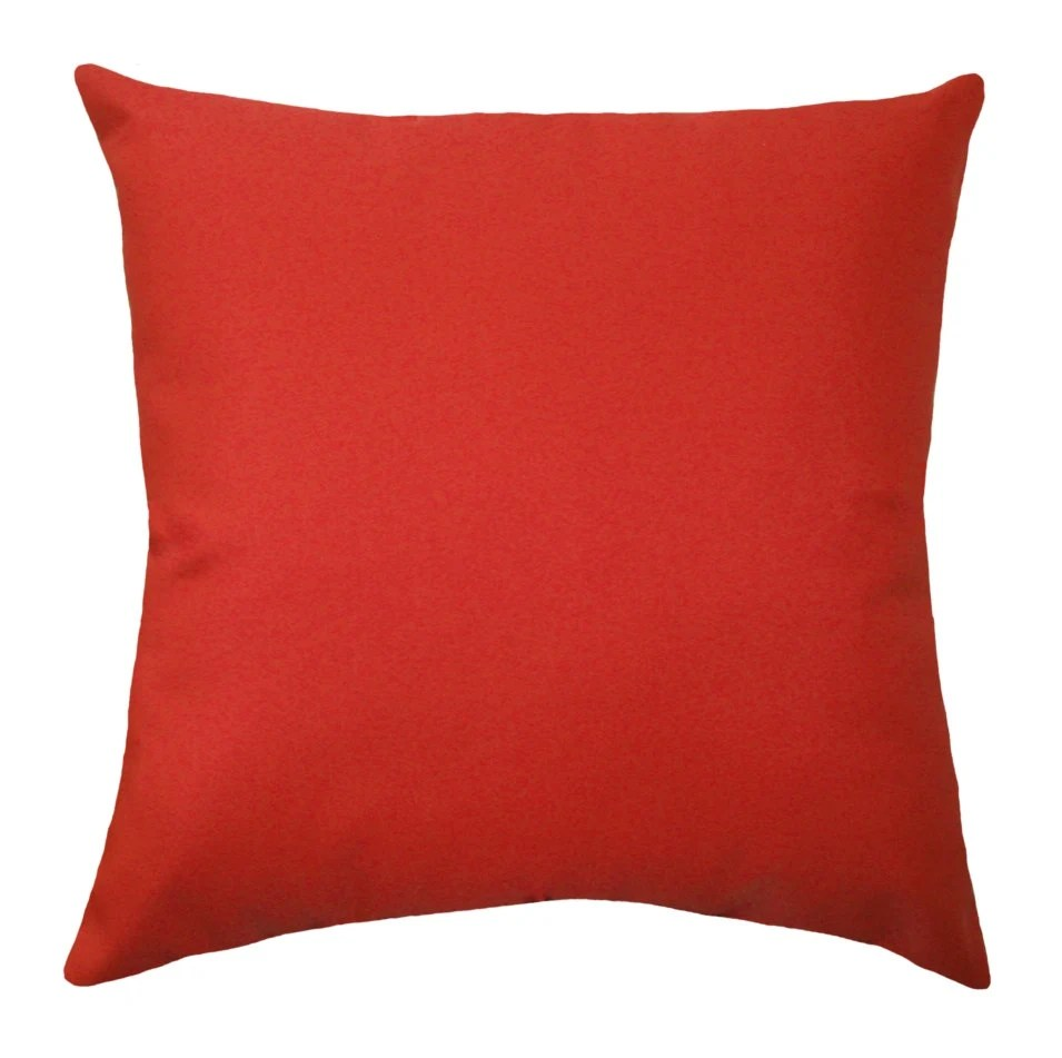 Solid Red OUTDOOR Pillow Cover Christmas Pillow Cover Red