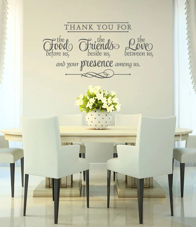 Vinyl Wall Decal Thank You Wall Decal Bless The Food