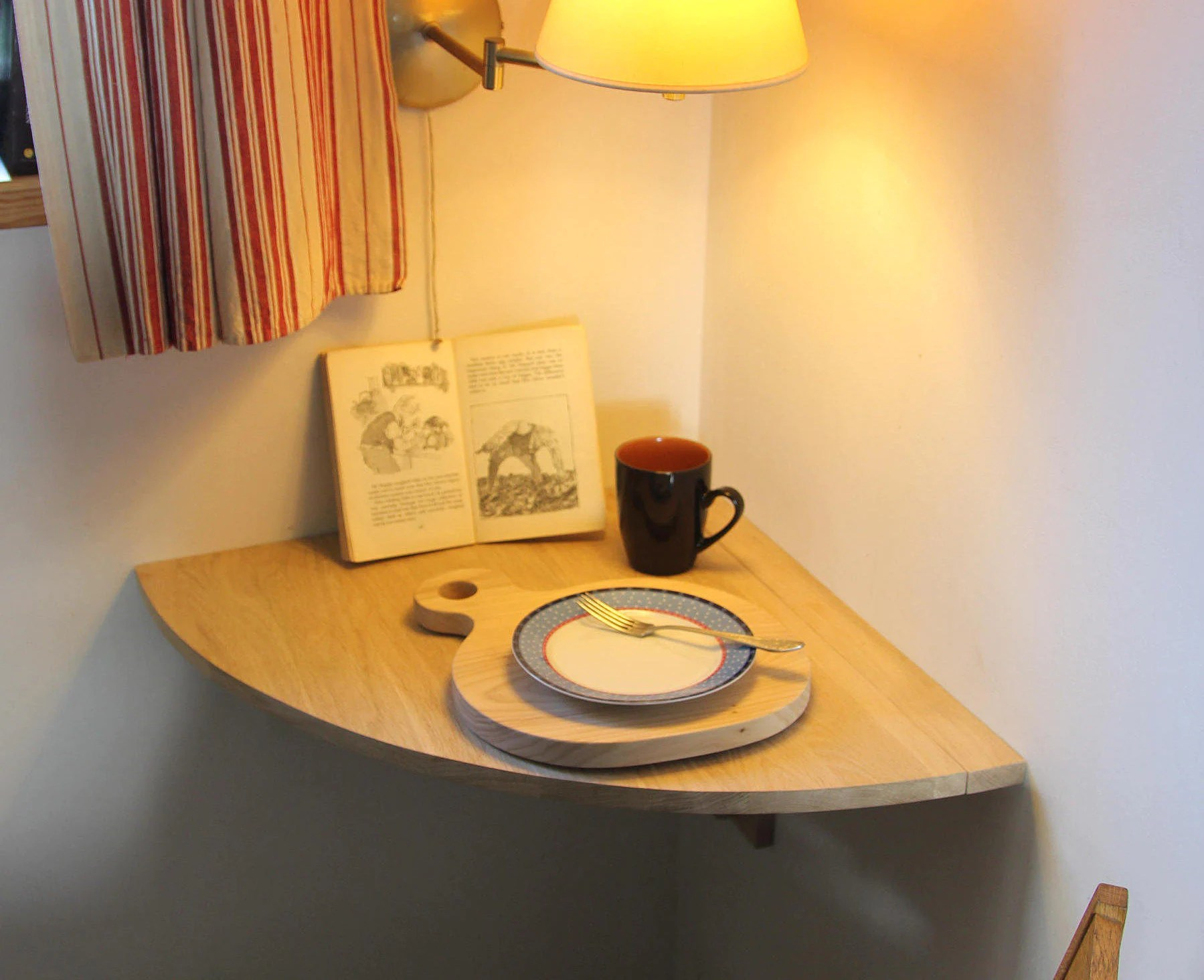 Small Corner Desk Drop Leaf Table Wall Mounted