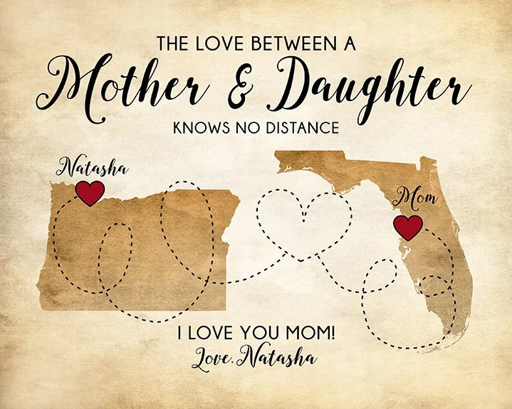 Gifts For Moms Personalized Gifts Mother Daughter Quotes