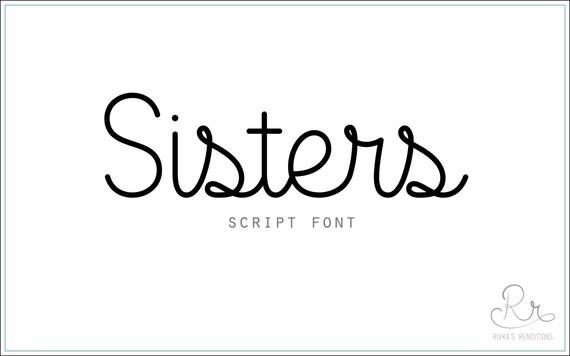 Sisters Font download // OTF / TTF Open Type Fonts //Digital