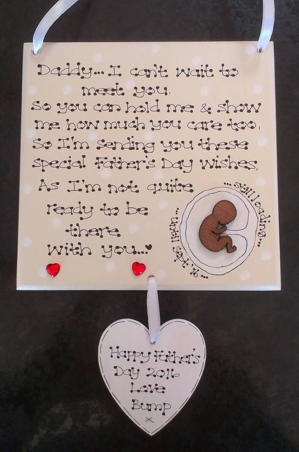 Personalised New Baby Daddy To Be Poem Pregnant Bump Fathers