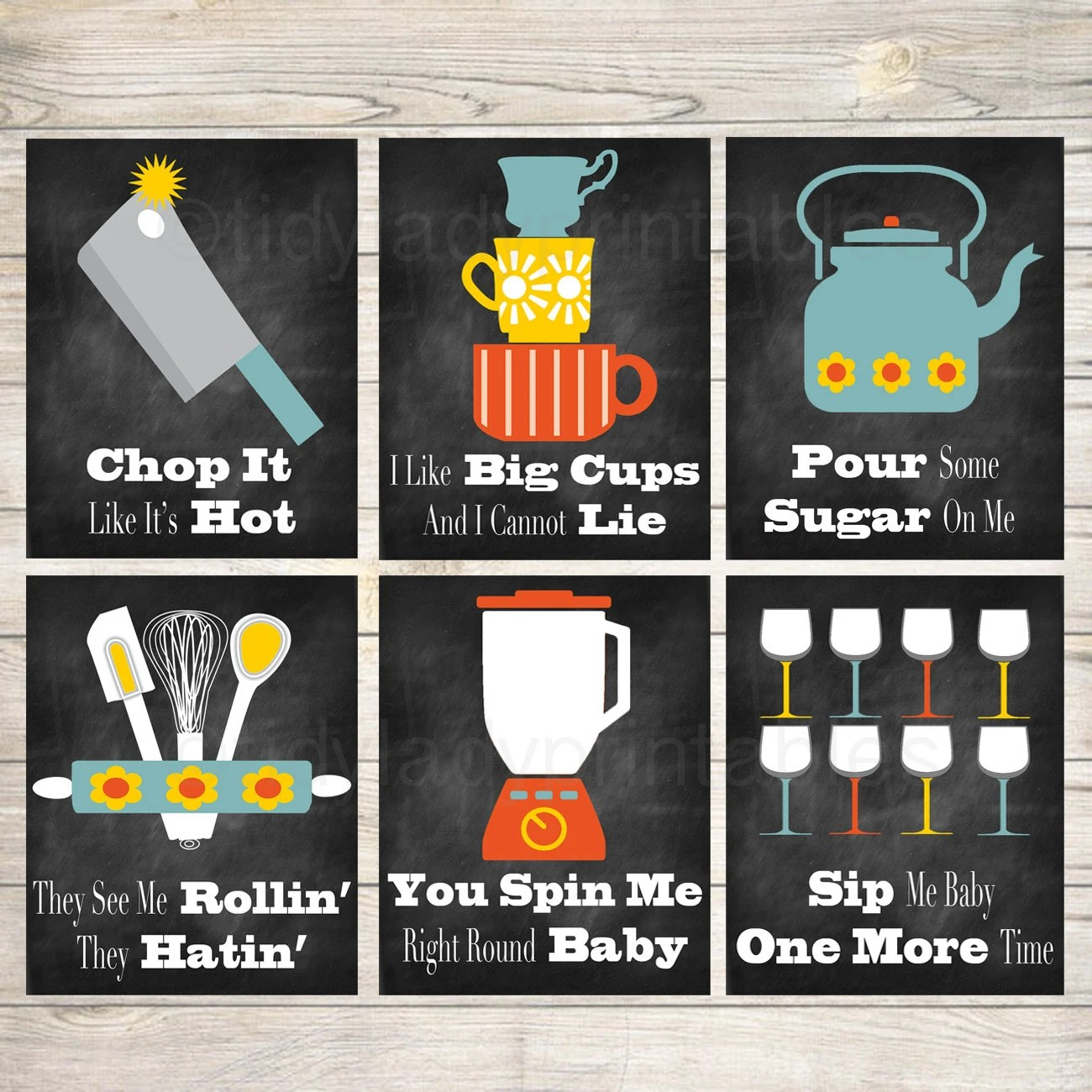 Funny Kitchen Wall Art Kitchen Decor Printable Signs Instant