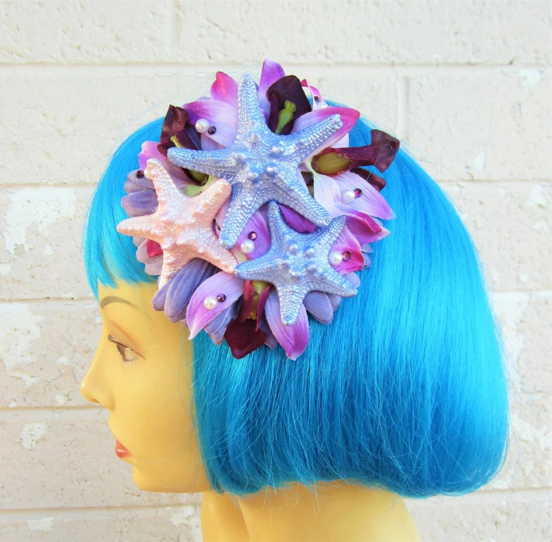 starfish mermaid hair clip pinup