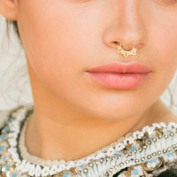 Gold Septum Ring Septum Piercing Gold Nose Ring Septum