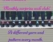 Sock club, mystery sock y...