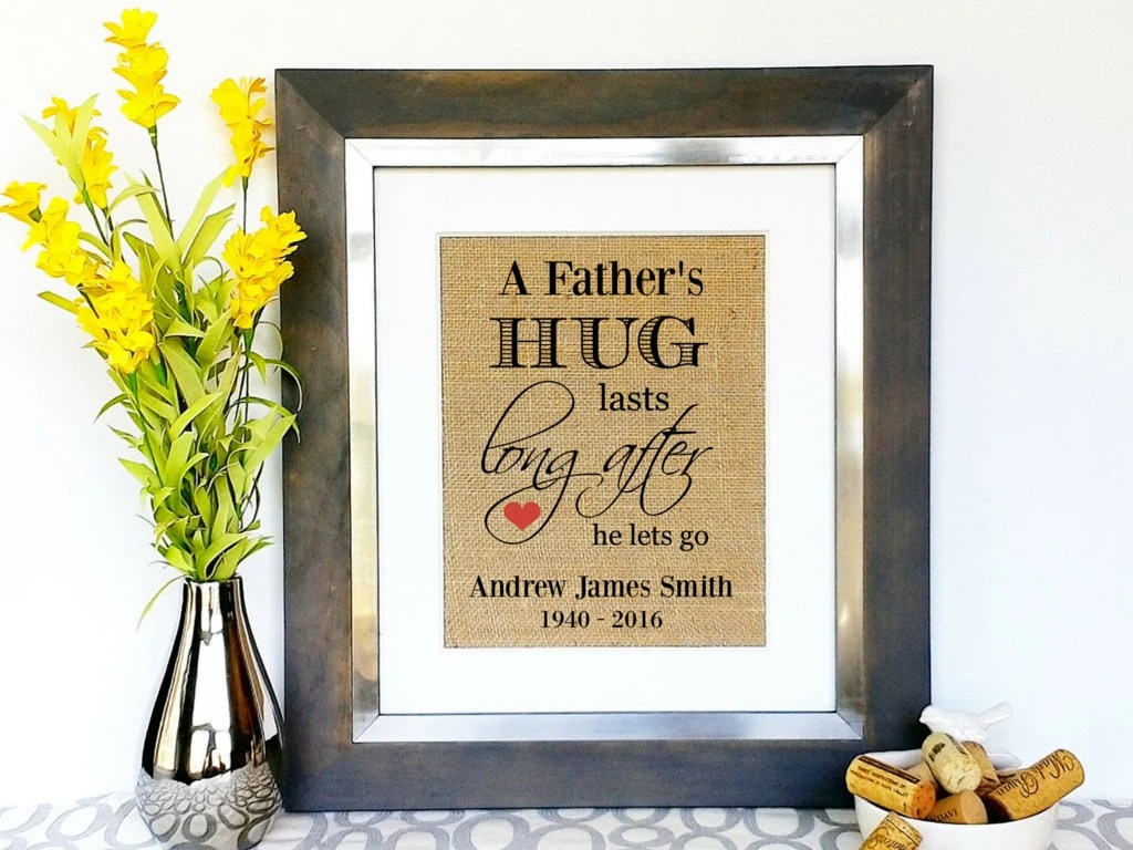 In Memory Of Dad Sympathy Gifts Men Death Of Dad Death Of
