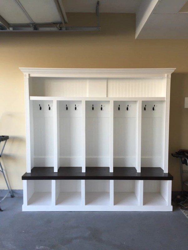 Entryway Bench with Locker Cubbies