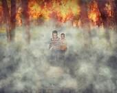 Forest Fire digital backg...