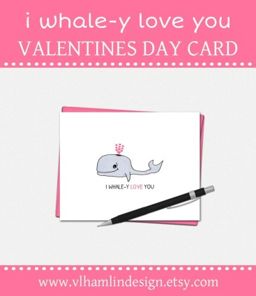 I Whale-y Love You Valentines Day Cards