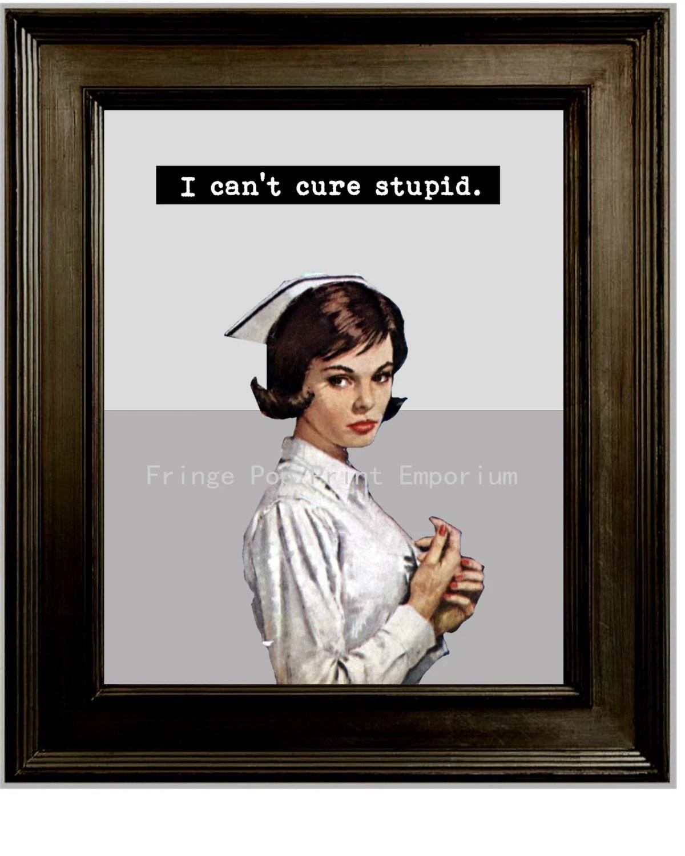 Retro Nurse Funny