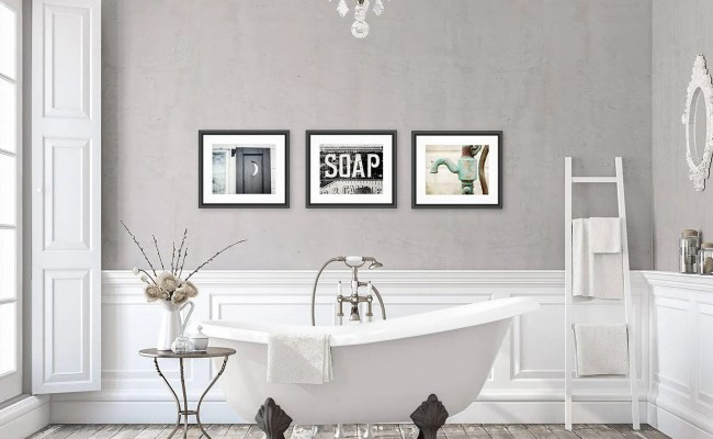 Rustic Bathroom Wall Decor Bathroom Wall Art Set Of 3 Prints
