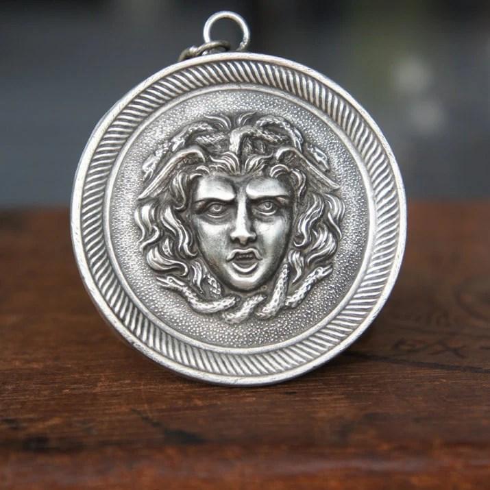 Solid Silver Fierce Medus...