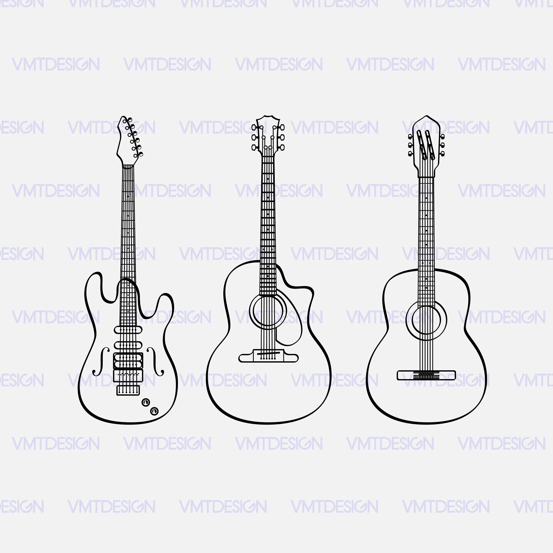 Guitar Svg Guitar Vector Guitar Clipart Guitar Svg Files