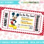 Printable Ticket To Disney Diy Personalize Instant Download