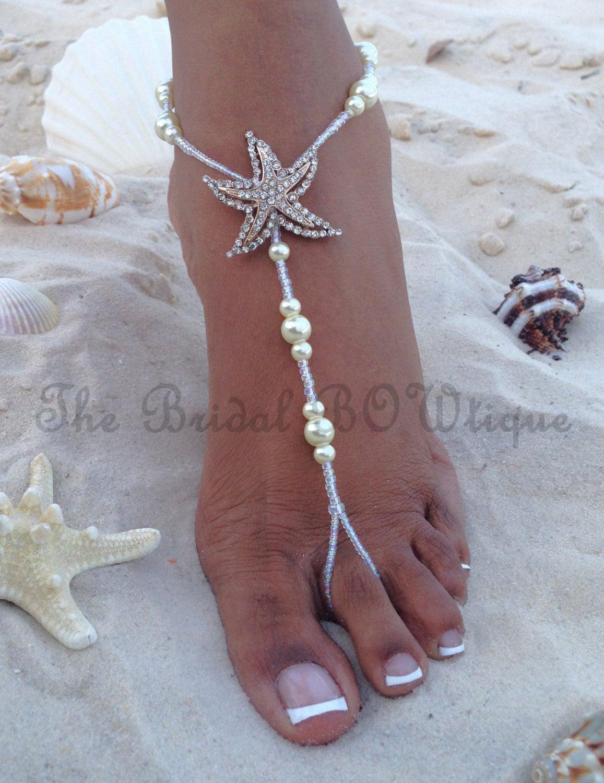 Beach Wedding Barefoot Jewelry Sandals