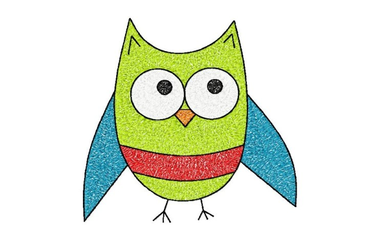 5x7 hoop OWL Machine Embroidery Design File, digital download