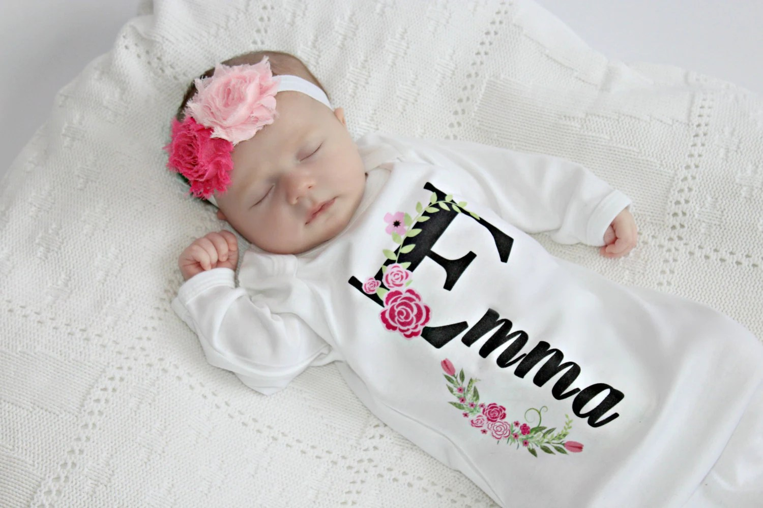 Personalized Baby Gift Girl Newborn Girl Coming Home Outfit