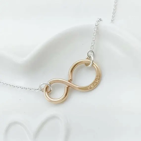 Bronze infinity necklace