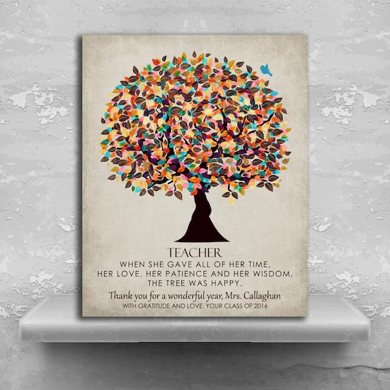 Personalized Gift For Teacher Mentor Appreciation Graduation