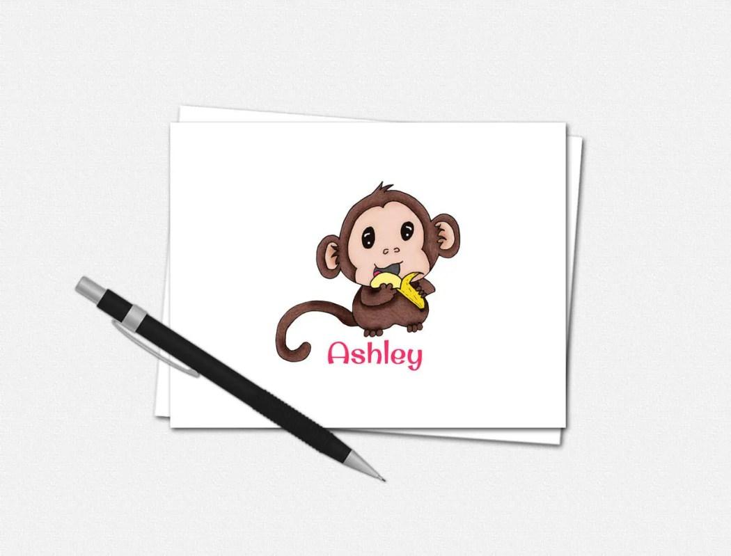 Baby Monkey Note Card Set...