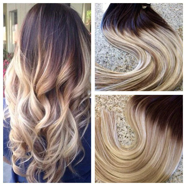 5 Star Ombre Balayage European Remy Clip In Hair Extensions