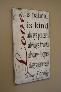 Love Is Patient Love Is Kind Wedding Sign Pallet Sign Shabby