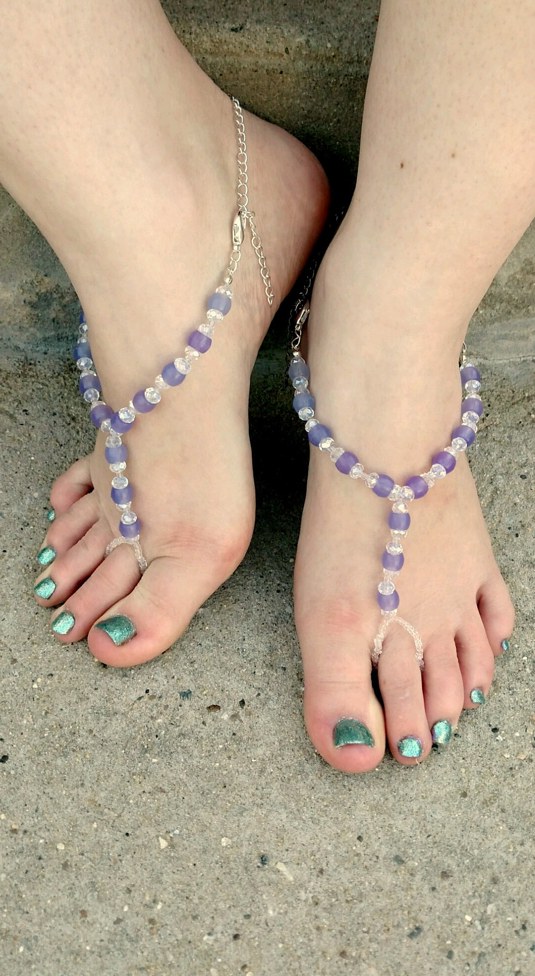 Dark Blue Color Changing Barefoot Sandals Soleless