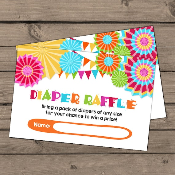 Baby Shower Diaper Raffle Card Fiesta Baby Shower Game Fiesta