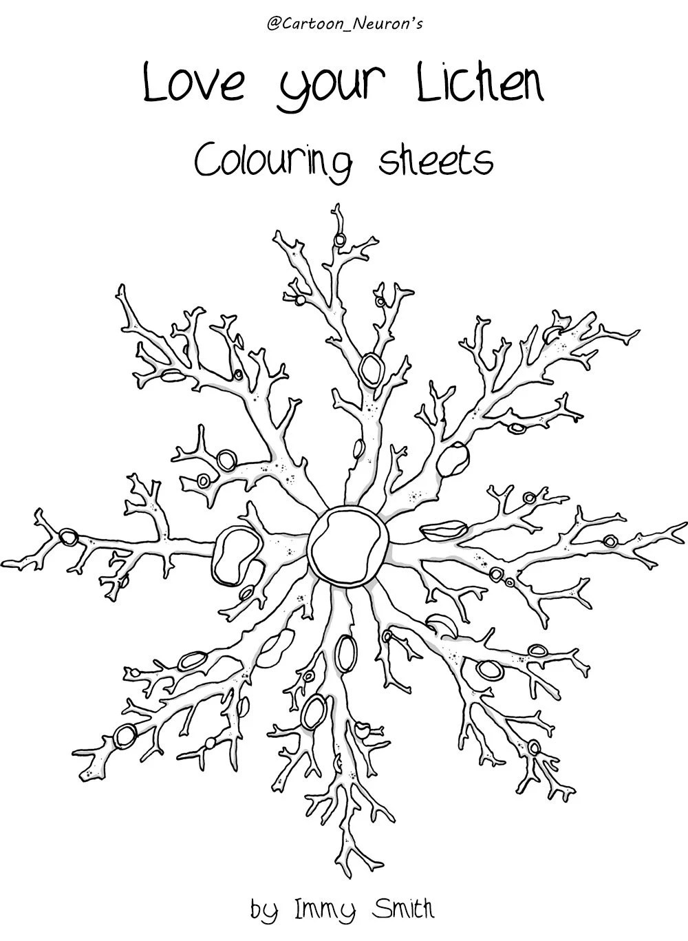 Coloring book Love Your Lichen Colouring Sheets Printable