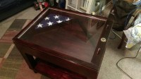 ON SALE military table rustic coffee table shadow box