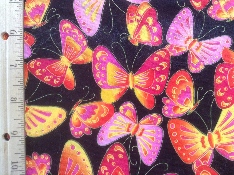 Robert Kaufman Fabrics Over Rainbow Butterflies