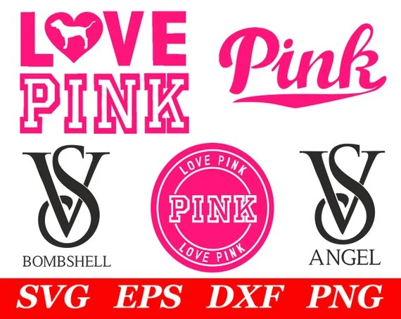 Download Love Pink SVG File Cricut Silhouette Iron On VS Dog Clipart