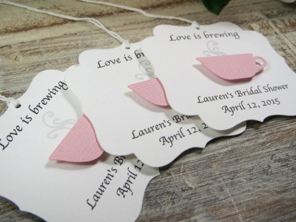 Bridal Shower Favor Tags Love Brewing Wedding
