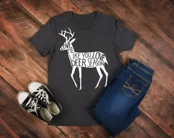 Download deer hunting I love Heart Love Deer Season Unisex Vinyl