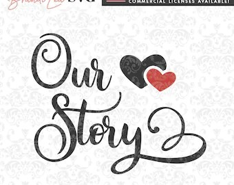 Download Love Story SVG Beautiful Favorite Heart Husband Wife Letters