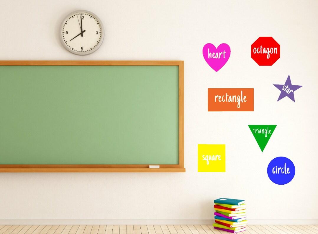 Shapes Teacher Vinyl Decal Classroom Classroom Decor