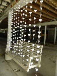 Wedding Curtain / Paper Heart Curtain Garland