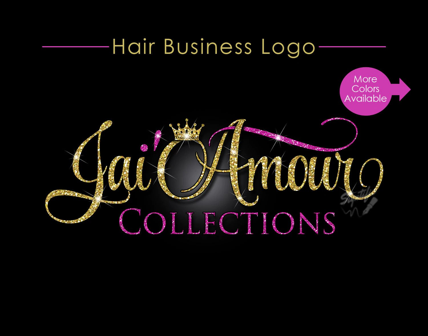 hair business logo extensions