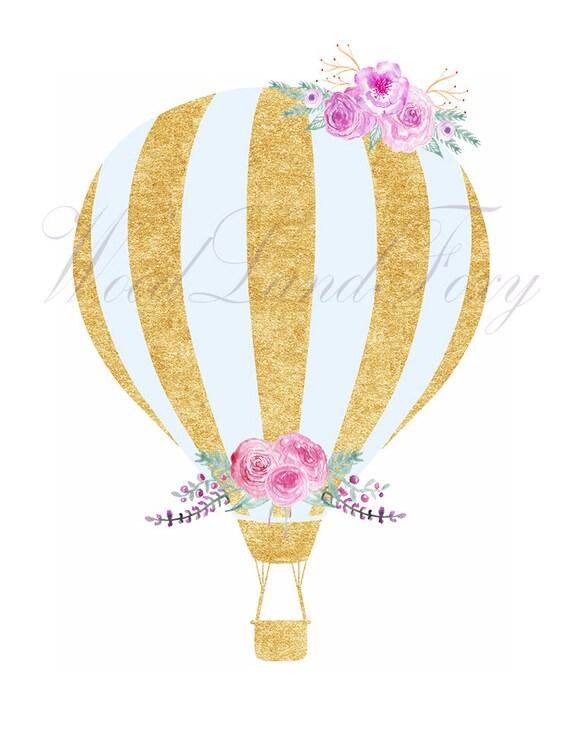 gold hot air balloons clip art