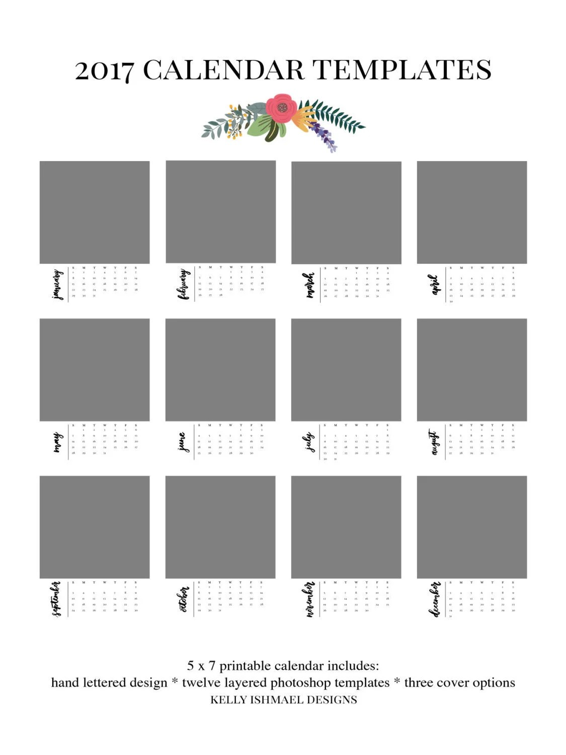 Calendar Template Photoshop