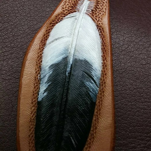 Feather keychain, eagle f...
