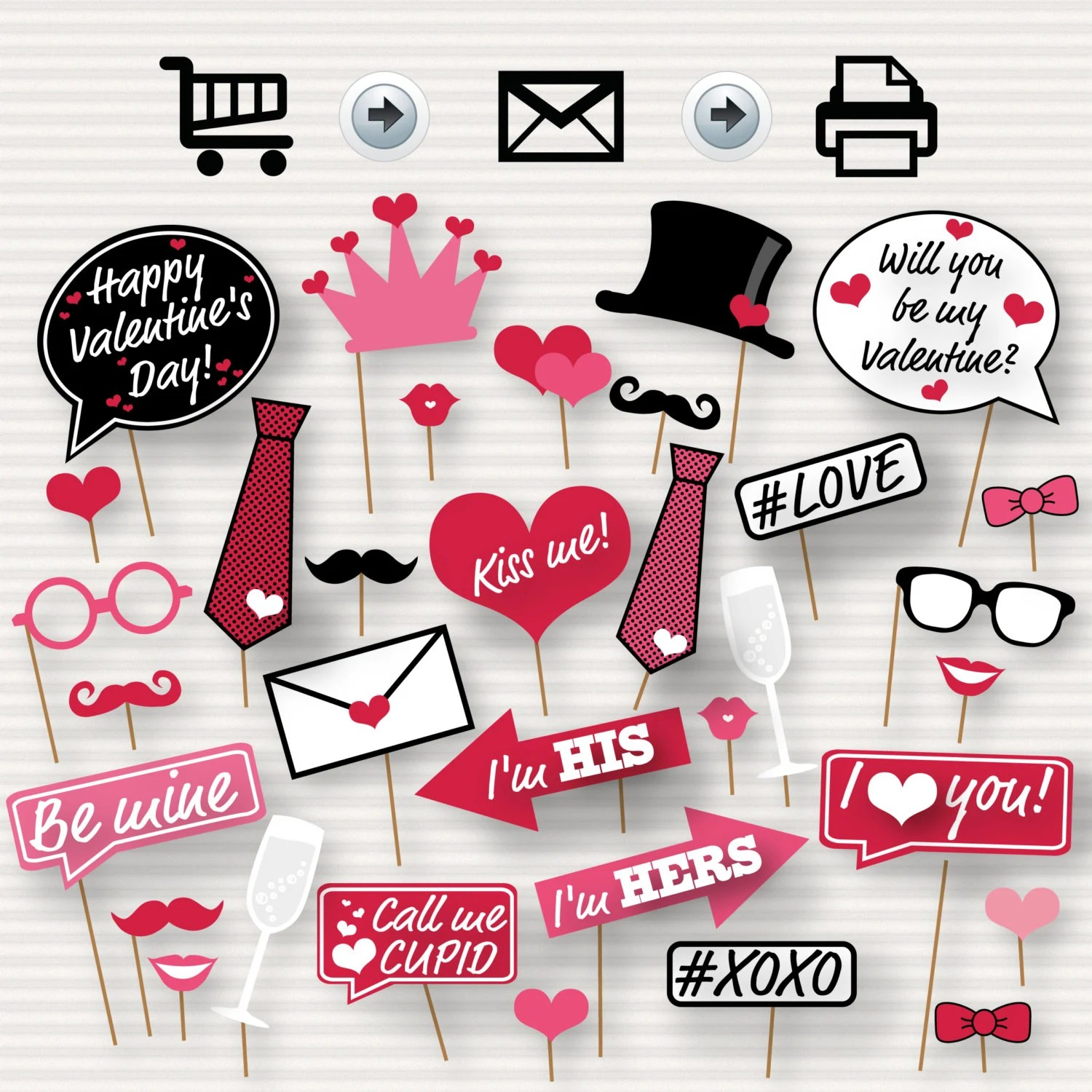 Valentine S Day Printable Photo Booth Props