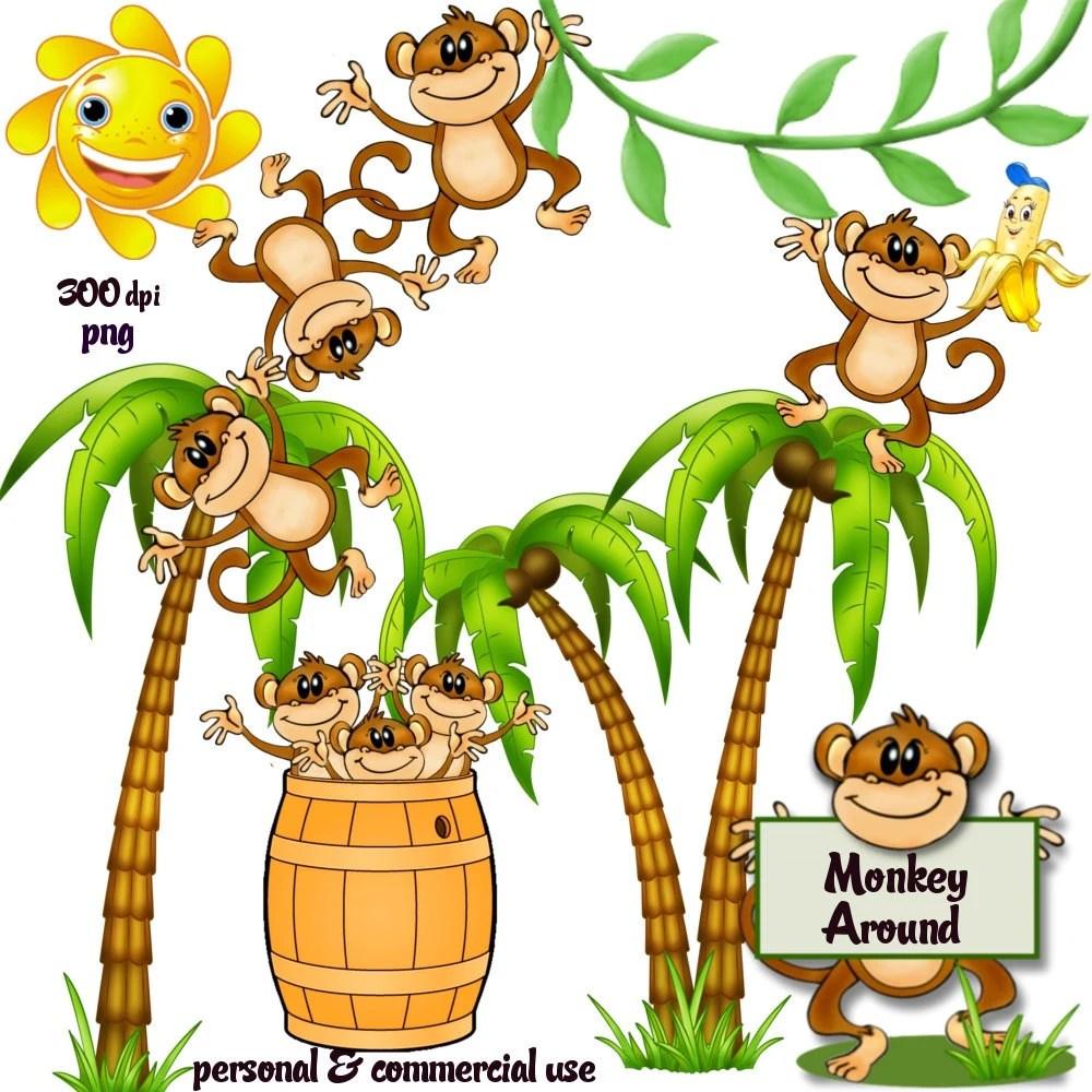 Monkeys And Bananas Cute Wallpaper Clip Art Monkey Around Png Files No 118